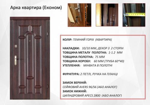 арка квартира темій орех